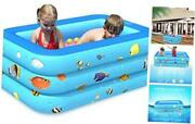 Swimming Inflatable Pool,150x110x50cm Above Ground Rectangular Pools Summer