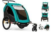 Encore X Kids Bike Trailer And Stroller. 2 Seat Turquoise