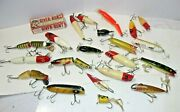 Old Vintage Fishing Lure Lot And River Runt Box
