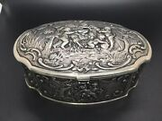 Vintage Antique Sterling Silver Jewelry Box