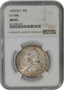 1836 8/3 Capped Bust Half 50c O-108a R.2 Ms62 Ngc 939020-4