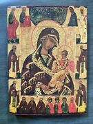 Contemporary Russian Orthodox Icon Of Madonna And Child On Wood Pete Zantal