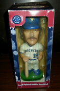 Robin Yount Bobblehead 2001 In Box Cooperstown Hall Of Fame