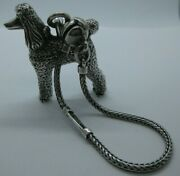 Vintage 1996 Kieselstein Cord Sterling Silver Fifi Poodle Dog Keychain Key Ring