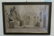 The Sacristy Painting Antique Watercolour Greyfriars Church Italy And039800 Bm40