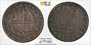 1734-s Pa Spain 8 Reales Silver Coin Seville Mint Philip V Pcgs Xf-details