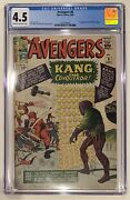 1964 Avengers 8 1st Appearance Kang The Conqueror Cgc 4.5