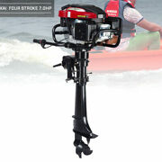 Hangkai Outboard Motor 7hp 4-stroke 196cc Tci Boat Engine Motor W/ Air Cooling