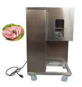 110v Qsj-a Meat Slicer Cutting Processing Machine Cutter With Double 4mm Blade