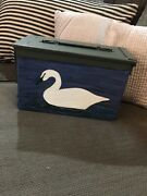 Ammo Box For Duck Hunting Painted Decoy On Each Side Metal Vgc