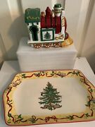 Spode Annual Collection Plate 2012 And Spode Christmas Tree Village Engine