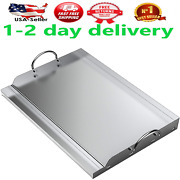 Universal Stainless Steel Rectangular Griddle For Gas Bbq Grills Non-stick