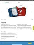 Philips Hearstart Defibrillator Aed With Wall Case Pre-owned Not Used