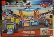 Disney Cars Color Changers Dinoco Car Wash Exclusive Lightning Mcqueen + Pitty