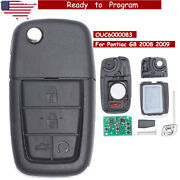 Replacement Folding Remote Key Fob 315mhz 4+1 Button For Pontiac G8 2008 2009