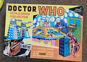 Dr Who Give A Show Projector 1965 Chad Valley - Complete - Lovely Example