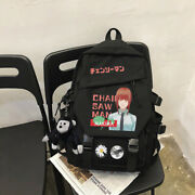 Backpack Anime Chainsaw Man Student Schoolbag Casual Fashion Shoulders Bag 02
