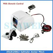 Boat Marine Electric Anchor Winch With Wireless Remote 45 Lbs Free Fall