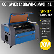 Omtech 70w 30x16 Co2 Laser Cutter Engraver Etcher Bed With Ruida Autofocus