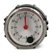 Faria Boat Analog Clock Gauge Cl1081 | 2 Inch Silver White