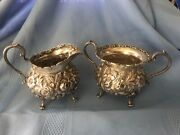 A G Schultz Early Baltimore Sterling C1899 Sugar And Creamer Hand Made