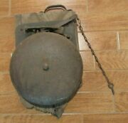 Vintage 10 Cast Iron Ringside Bell - Boxing Ring - Fire House - School Bell