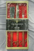 Vintage New Old Stock Utica Cutlery Co The Longhorns 3 Piece Barbeque Set In Box