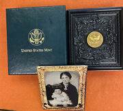 Usa Civil War 3 Coin Set Peck Union Case 5gold 1 Silver 50andcent Clad 1995 Proof