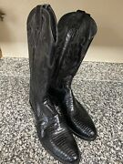 Menandrsquos Justin Genuine Lizard Skin Cowboy Boots Size 9d Style 8106 Brand New