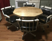 Vintage Mcm Formica Kitchen Table And Chairs
