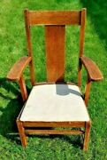 Vintagesolid Oakmission Style Chairsturdyarts And Craftsofficedeskaccent