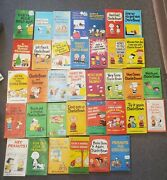 Lot Of 36 Charlie Brown/peanuts Books By Charles Schulz