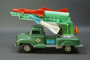 1970's Poland Wroclaw Tin Toy Army Missile Launcher Truck Air Defense Friction