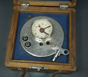 Wwi German Portable Aviation Military Clock Case Electric Chain Beacon Switch