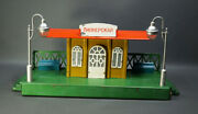 1960and039 Soviet Russian Tin Toy Moskabel 0 Scale Train Pionerskaya Train Station