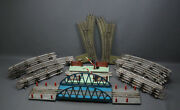 1960and039 Soviet Russian Tin Toy Moskabel 0 Scale Train Set Full Tracks Circle Bride