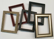 Five Pack Of Premium Quality Solid Wood Picture Frames