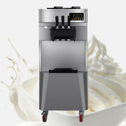 Durable 20l/h Stand Commercial 3 Flavors Ice Cream Machine Steel Automatic Fda