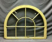 Antique Arch Top Window Sash Dome Top 10 Lite 28x36 Transom Old Vintage 906-21b