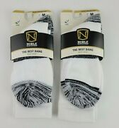 Noble Outfitters The Best Dang Crew Boot Sock White Black Medium Lot Of 2