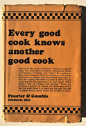 The Art Of Cooking And Serving – Proctor And Gamble – 1932 With Dj