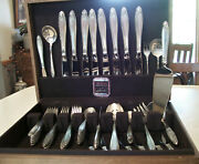 International Prelude Sterling 50 Pc. Flatware Set Svc. For 8 Many Extras
