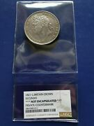 1821 Great Britain Crown Silver Coin Secundo George Iv Ngc Genuine Countermark