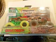 Monster Jam Zombie Vs Hunter Invasion Grave Digger And Son/uva Digger