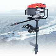 6hp 4 Stroke Heavy Duty Outboard Motor Boat Engine W/ Air Cooling System Usa