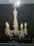 Spectra Chandelier Components Model 12009 White Ivory Pearls New