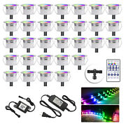 30x 31mm Outdoor Rgbic Led Deck Light Path Garden Pathway Stairs Step Lamp Xmas