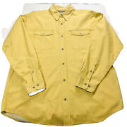 Lot Of 2 Columbia Mens Xl Shirts Yellow Brown Button Up Long Sleeve W Pocket