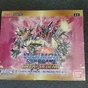 Digimon Tcg Great Legend English Sealed Booster Box