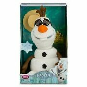 New Disney Store Frozen Talking And Singing Animated Olaf Snowman Plush Toy Doll